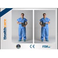 Buy cheap Blue PP / SMS Disposable Protective Gowns Scrub Suit Lightweight S-5XL Size from wholesalers