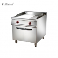 China Commercial Kitchen Equipment Stainless Steel Gas 1/3 Grill Griddle with Cabinet on sale
