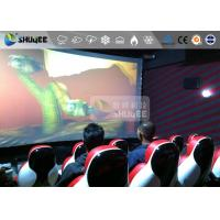 Quality Interaction Reality 7D Movie Theater With Red Fiber Glass Motion Seats wholesale