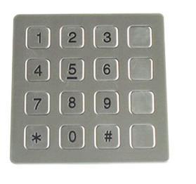 Quality Vandal Resistant Phone Keyboard , Stainless Steel Keypad With 16 Keys wholesale