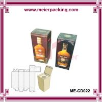 China Wine bottle packaging box/ paper wine box/cheap printed wine paper gift box ME-CD022 on sale