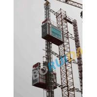 Quality Hot Dipped Zinc Single Building Site Hoist Red Frame Style 1000kgs - 3200kgs wholesale