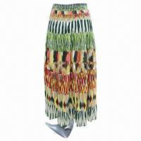 China Fashionable Ladies' Patchwork Long Skirt, Customized Colors, OEM Orders Welcomed  on sale