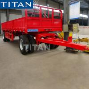 China 30 tonne 2 axle drawbar trucks and trailers for sale-TITAN Vehicle on sale