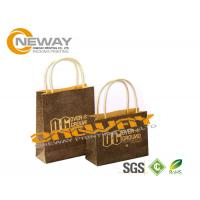 Quality 2 Side 4C Gift Kraft Paper Packaging Bags Fashion With Handles wholesale