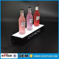 Quality factory direct sale clear display holder stand, laser cutting thick acrylic customized led base wholesale