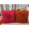 Buy cheap Long Mongolian sheepskin Pillow Two Toned Tibetan lamb fur cushion pillow cover from wholesalers