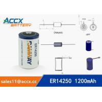 Quality ER14250 3.6V 1.2Ah 1/2AA lithium battery wholesale