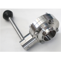 China SMS DN15 Sanitary Stainless Steel Butterfly Valves on sale