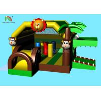 Quality 5.5 m Animal Forest Theme Inflatable Castle Bouncer Crocodile Jumping Bounce House wholesale