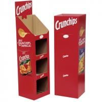 China Ladder Floor Display, Cardboard Booth Display Stands, Potato Chips Display on sale