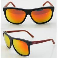 Quality Unisex Orange Acetate Frame Sunglasses , Modern Wayfarer Sunglasses wholesale
