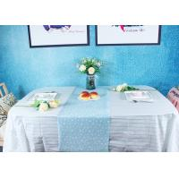 China Peppermint Stripes Disposable Paper Tablecloth Party Picnic Table Cover on sale