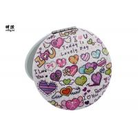 Quality Double Sided Lovely Small Compact Mirror For Men Printing Carton Design wholesale