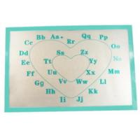 China Printed letter Fiber non-stick silicone baking mat on sale