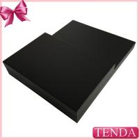China Black Leather Covered Wooden MDF Jewellry Jewllery Chain Store Shop Counter Jewelry Displays Boards on sale
