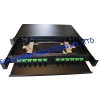Quality Drawer Type Fiber Optic Distribution Box 1U 12Ports Full Loaded With SC Pigtail wholesale