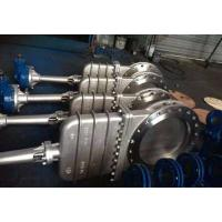 Quality CL150/PN16 NRS NON-RISING STEM CI/DI WCB/GG25/GGG40 DOUBLE FLANGED BONNETED KNIFE GATE VALVE wholesale