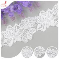 Cheap White Flower 2CM Water Soluble Lace Trim For Apparel , Handicraft for sale
