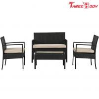 Quality Wicker Outdoor Garden Furniture Rattan Patio Table And Chairs With Cushions wholesale