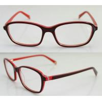 Quality Lightweight Acetate Rectangle Eyeglasses Frames / Eyewear Frame For Women wholesale