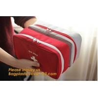 Quality earthquake survival kit personal outdoor safety emergency car first aid bag,First Aid backpack Plastic Hard Red Case 211 wholesale