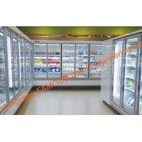 Quality Narrow Aluminum Alloy Frame Glass Door For Display Cabinet Cold Room wholesale