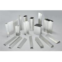Cheap Frosted Fabric Aluminum Window Profiles / Aluminum Glass Door Frame for sale