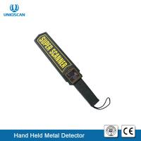Quality High Sensitivity Hand Held Metal Detector IP31 Waterproof Standard 9V Battery wholesale