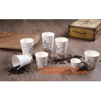 Quality Food use disposable plastic paper cup and coffee lids, pla cups,biodegradable paper cups with lids,100% compostable pape wholesale
