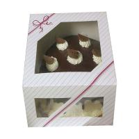 China chocolate  birthday cake cardboard color paper  box with clear window on sale