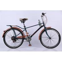 Cheap Carbon steel colorful 26 OL city bicicle for man with Shimano thumb shifter 7 for sale