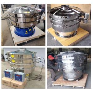 China Large Capacity Sugar And Salt Powder Sieving Ultrasonic Type Circular Vibrating Screen Separator on sale