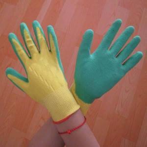 China 13G nylon shell latex coated foam finish working glove on sale