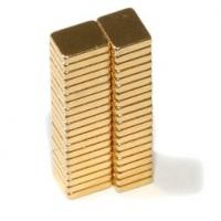 Quality N42 F5x4x1mm Gold Coating Neodymium Magnet Block Neodymium Magnets wholesale