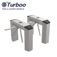 Quality SUS201 Tripod Turnstile Gate Barrier With Bi Direction Two RFID Readers wholesale