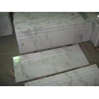 China China White Marble Stairs & Risers, Guangxi White Marble Non-Slip Stairs Tread, China Carrara Marble Steps,Staircase on sale