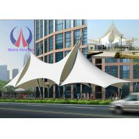 Buy cheap Multi Ridge Fabric Cable Metal Shade Structures , Outdoor Patio Sun Shade Sail Canopy product