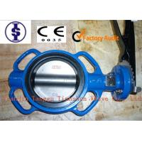 China Aluminum Iron / SS 304 Wafer Butterfly Valves 4  With EPDM / PTFE / NBR Seat on sale