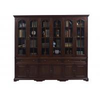 Quality Home Office Study room furniture American style Big Bookcase Cabinet with Display chest can L shape for corner wall case wholesale