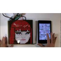 Cheap SparkFun or Adafruit 32x32 RGB LED Panel Driver Tutorial 16 data signals connect + 5VDC refreshed to display an image for sale