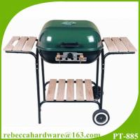 Quality Easy move steel 18 hamburger style charcoal BBQ grill with two wheels wholesale