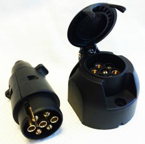 Quality Custom Plastic 7 Pin Towing Socket , Towbar Electric Socket Waterproof wholesale