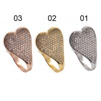Quality Wholesale Cheap 925 Sterling Silver Jewellery Silver Ring with CZ & Heart Shape For Anniversary, Gift wholesale