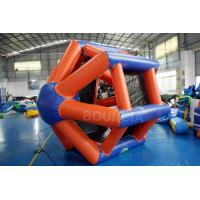 Quality 0.9mm PVC Tarpaulin Colorful Inflatable Water Roller  For Water Games wholesale