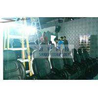 Quality Installing 5D Cinema Equipment With Black Leather Motion Chairs wholesale