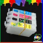 Quality T1621-T1624 refillable cartridge for Epson 4 color printer cartridge wholesale
