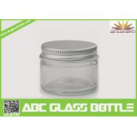 Cheap High quality clear glass jar with metal lid wholesale for sale