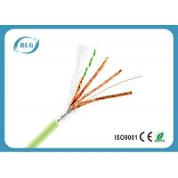 Quality 24AWG PVC Jacket Ethernet Cat 6a Cable / 4 Pairs Cat6a Shielded Plenum Cable wholesale