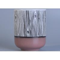 Quality Custom Beautiful Ceramic Candle Holder Color Coating For Home Decoration wholesale